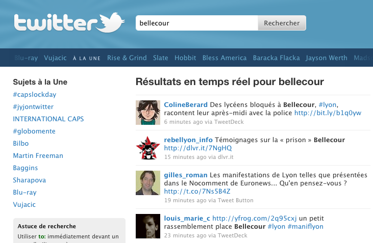 twitter pillages ()