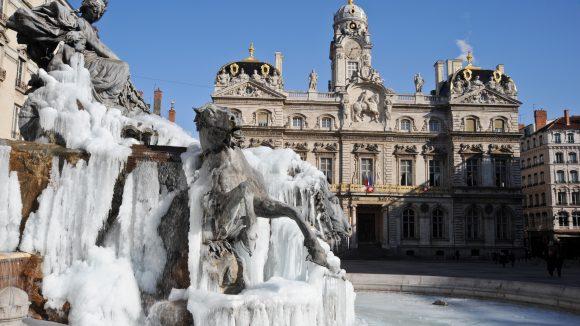 La fontaine Bartholdi gelée en 2012©TRISTAN PARET  (8)