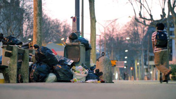 greves des eboueurs Poubelle © TD_0029