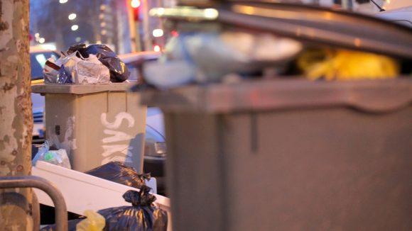 greves des eboueurs Poubelle © TD_0047