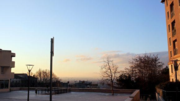 Vue de Lyon Le matin