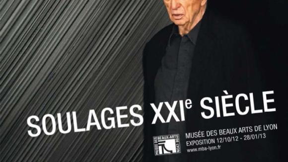 Affiche de l'exposition Pierre Soulages au MBA de Lyon