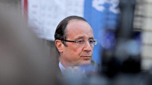 François Hollande Lyon détail © Tim Douet