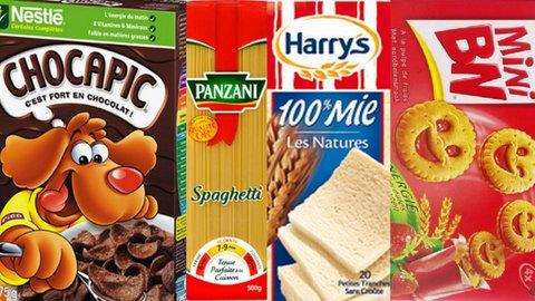 Photomontage Produits alimentaires