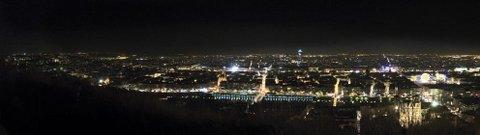 Fourvière vue de Lyon by night