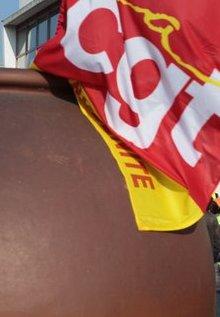 CGT drapeau pot