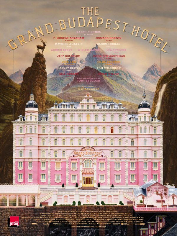 "Affiche du film ""The Grand Budapest Hotel"", de Wes Anderson"