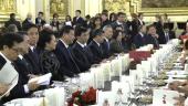 Président chinois à l'Hôtel de ville