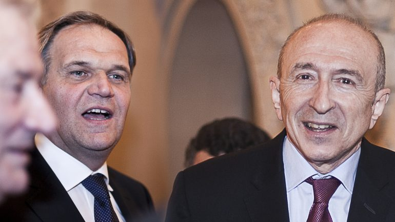 Buffet et Collomb à la préfecture du Rhône