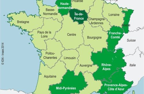 Carte France Salaires