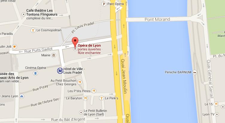 Opéra de Lyon google map