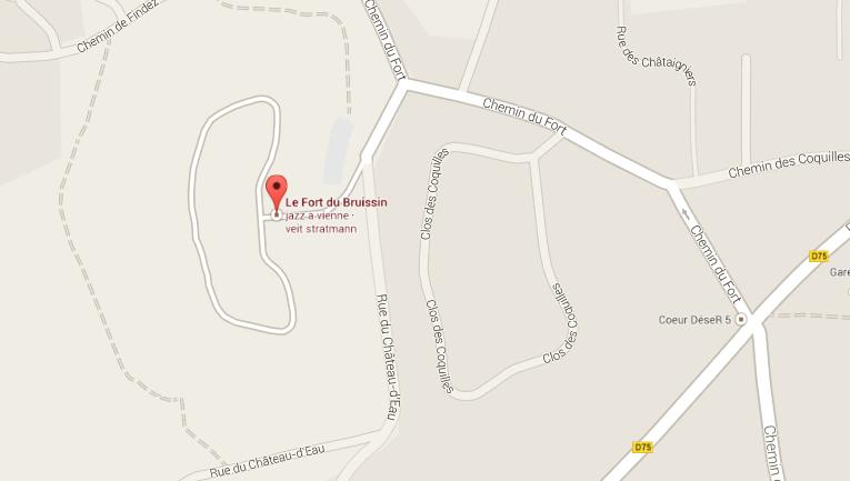 Carte Galerie Fort du Bruissin