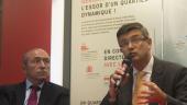 Gérard Collomb et Eric Lambert - Biodistrict Lyon-Gerland