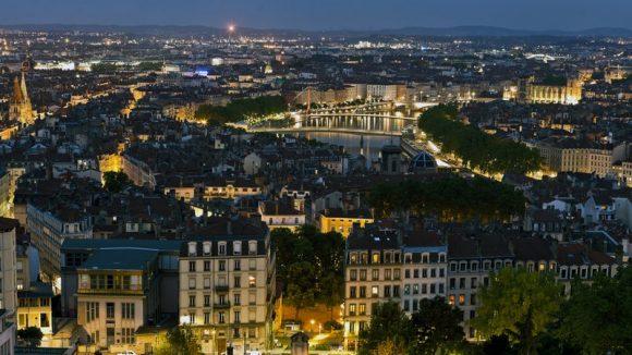 Vue de Lyon nuit 009