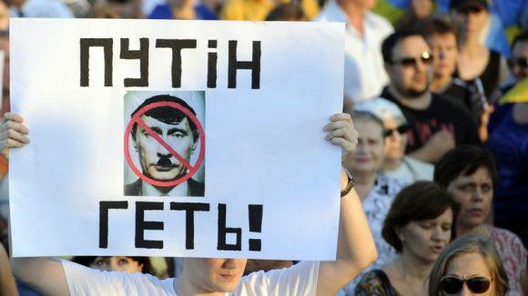 Ukraine manif anti-Poutine