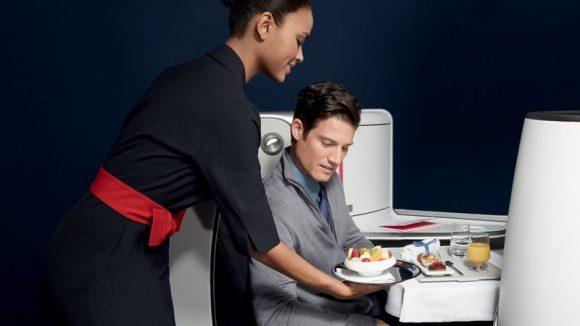 Business gastronomie avion