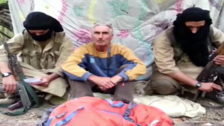 Une image vidéo de l'otage français retenu en Algérie
