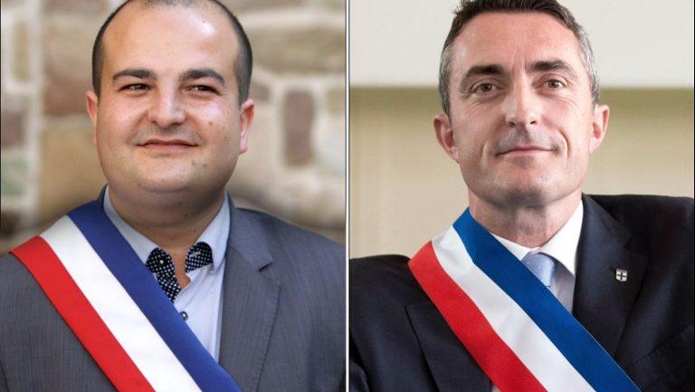 David Rachline (gauche) et Stéphane Ravier (droite)