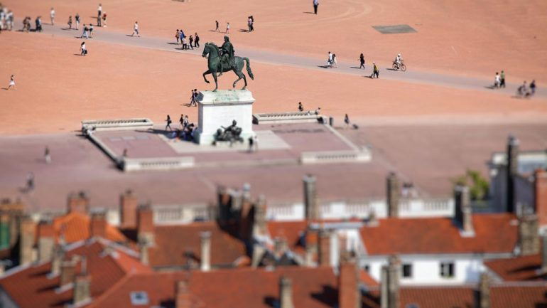 Place Bellecour vu de Fourvière