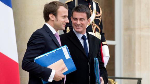 Emmanuel Macron Manuel Valls