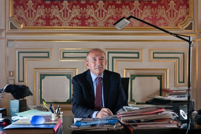 Gérard Collomb rentrée 2014 bureau mairie