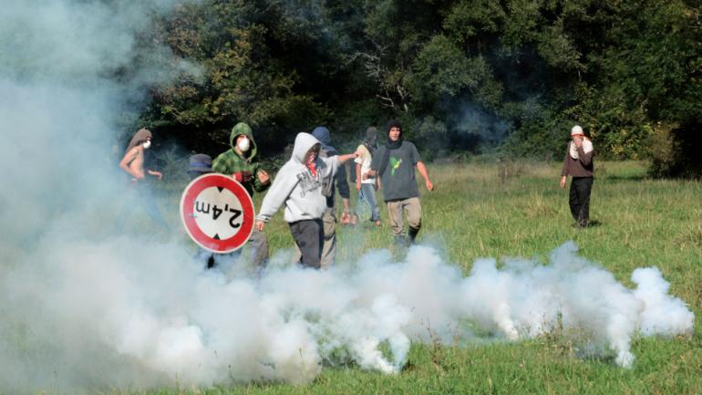 Action d'opposition au barrage de Sivens
