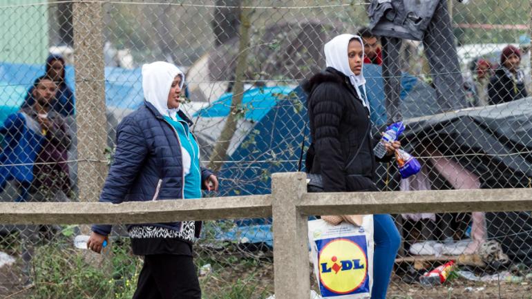 Des migrants à Calais