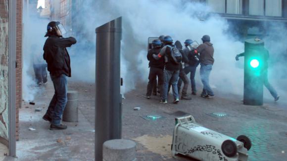 Manifestation rémi Fraisse : Heurts à Toulouse