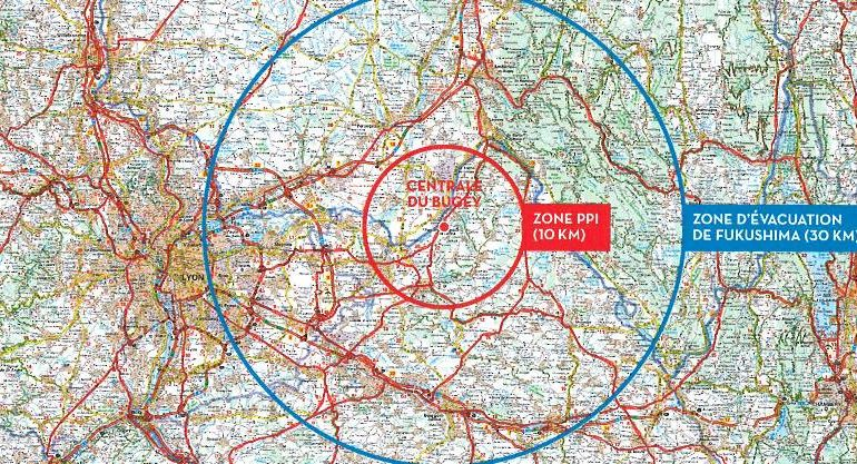 Carte centrale Bugey