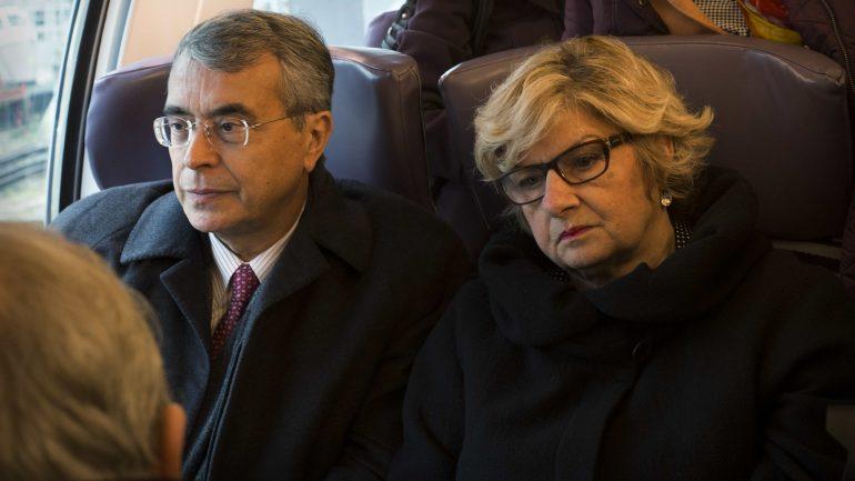Queyranne et Giraud dans le TER