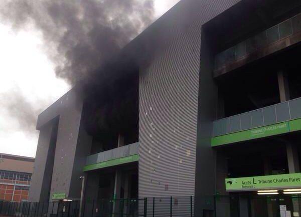 Le feu à Geoffroy Guichard