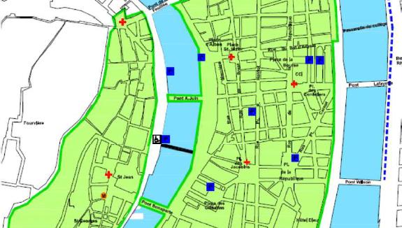 zones fermées à la circulation pour la Fête des lumières