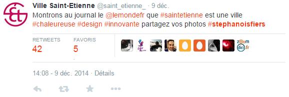 Tweet Ville Saint-Etienne Le Monde