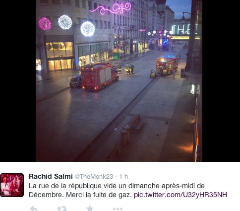 fuite de gaz - rue de la République