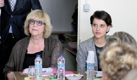 Pascale Crozon et Najat Vallaud-Belkacem