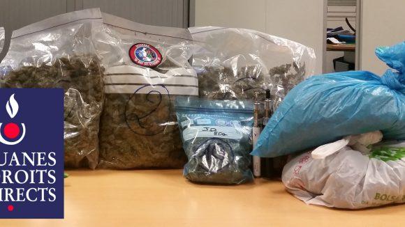 saisie de 3 kg d'herbe de cannabis