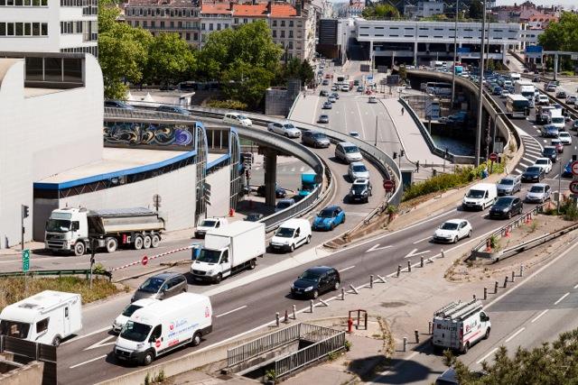 entrée Saône du tunnel sous Fourvière