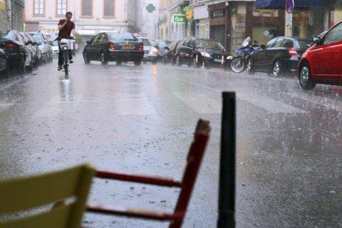 Lyon sous la pluie