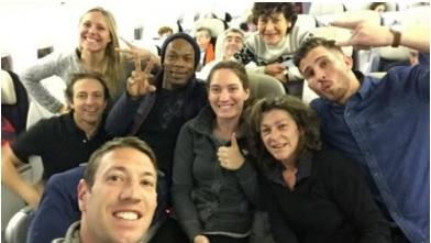 """Les 8 sportifs participant à l'émission """"Dropped"""" sur TF1 parmi lesquels Florence Arthaud"""