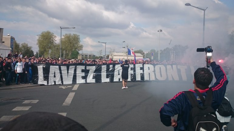 supporters lyonnais derby