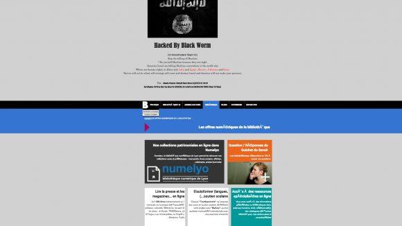 Le site de la BM de Lyon hacké