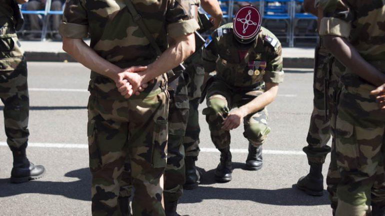 Militaires lors du défilé du 14 juillet