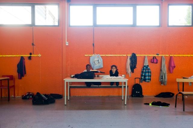 des enfants pendant l'accueil périscolaire dans le 7e arrondissement de Lyon