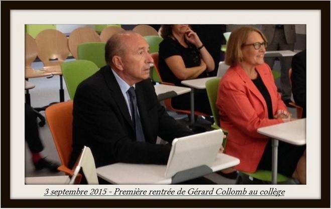 Gérard Collomb fait sa rentrée au collège