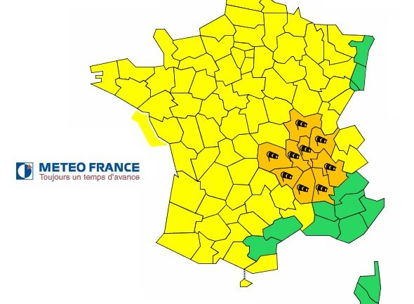 vigilance orange dans le Rhône