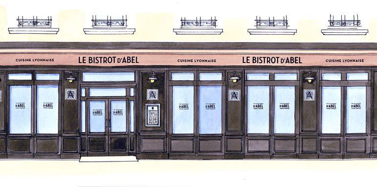 dessin Bistrot d'Abel
