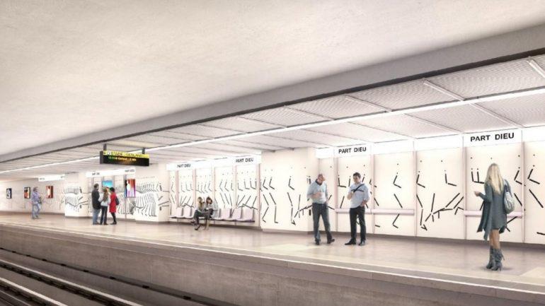 la future station de métro de la Part-Dieu