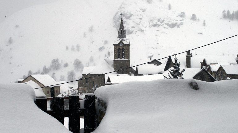 neige station montagne