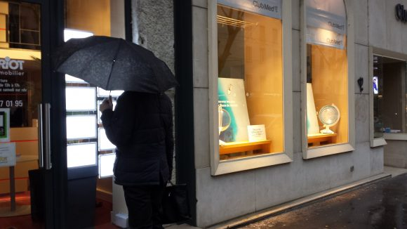 Pluie à Lyon