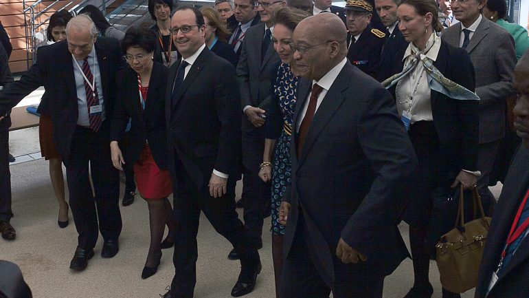 François Hollande et Jacob Zuma à Lyon